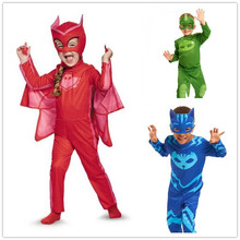 Selling Pj Cosplay Costume Catboy Owlette Gekko Cape Avec Masques Bracelet Cape Carnaval Costumes Pour Enfants Jouets