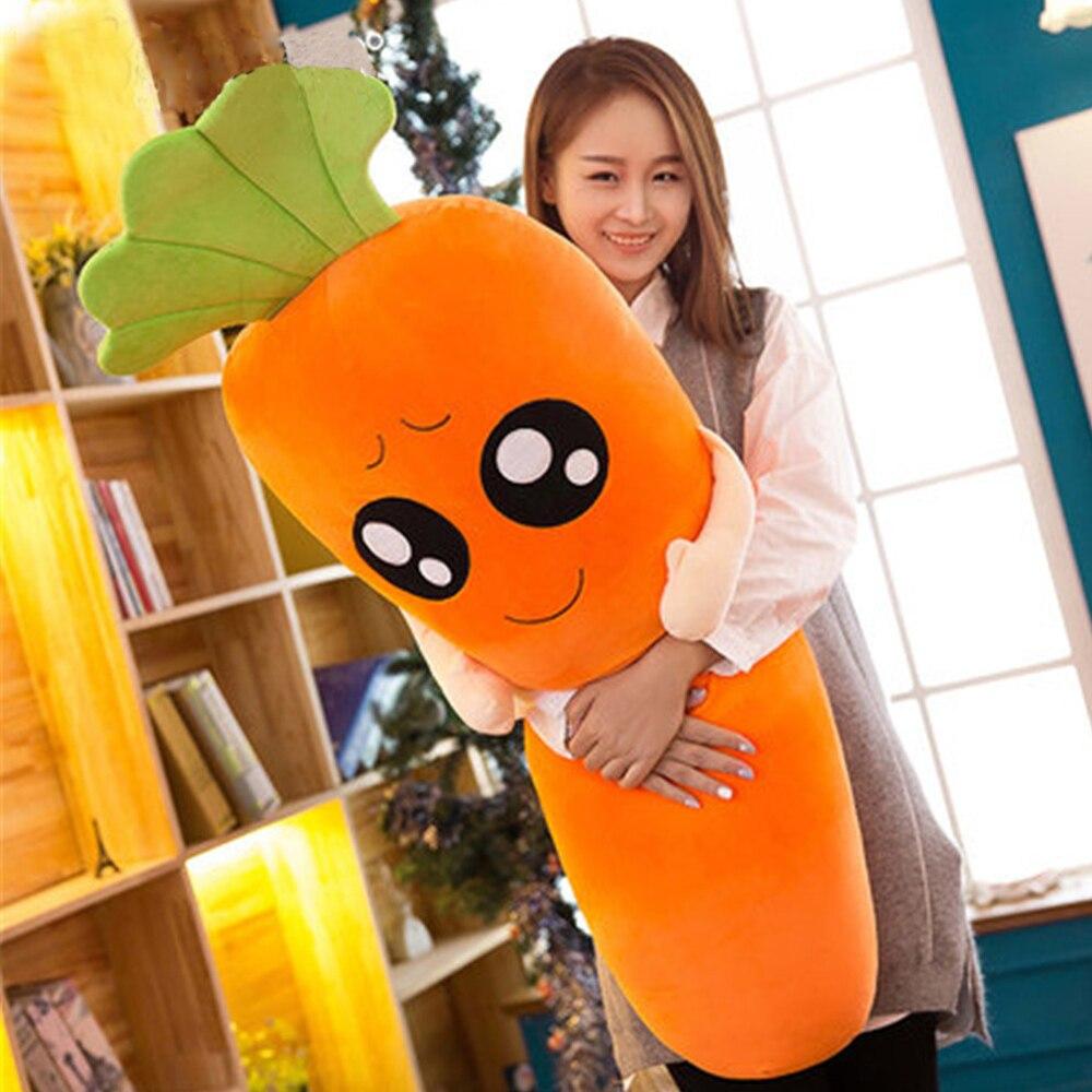 Fancytrader Big Anime Carrot Plush Toys Soft Stuffed Huge Lovely Vegetables Doll 120cm/100cm fancytrader biggest in the world pluch bear toys real jumbo 134 340cm huge giant plush stuffed bear 2 sizes ft90451