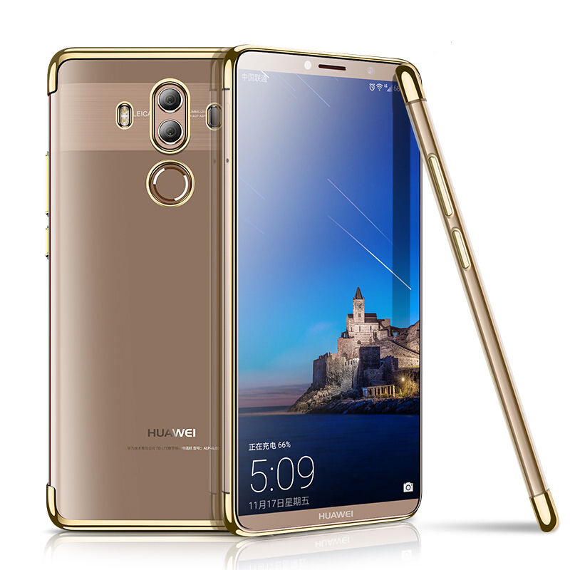 Tpu Plating Cases For Huawei P20 Plus P Smart P10 9 Lite Mate10 Pro P8 P9 Lite  Silicon Soft Transparent Bag Cover