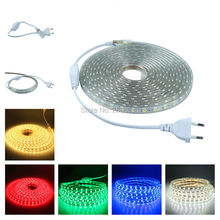 Plug and play 1M 5M 10M LED flexible strip light 5050 60LEDs/M IP67 waterproof AC110V US power plug LED tape lights