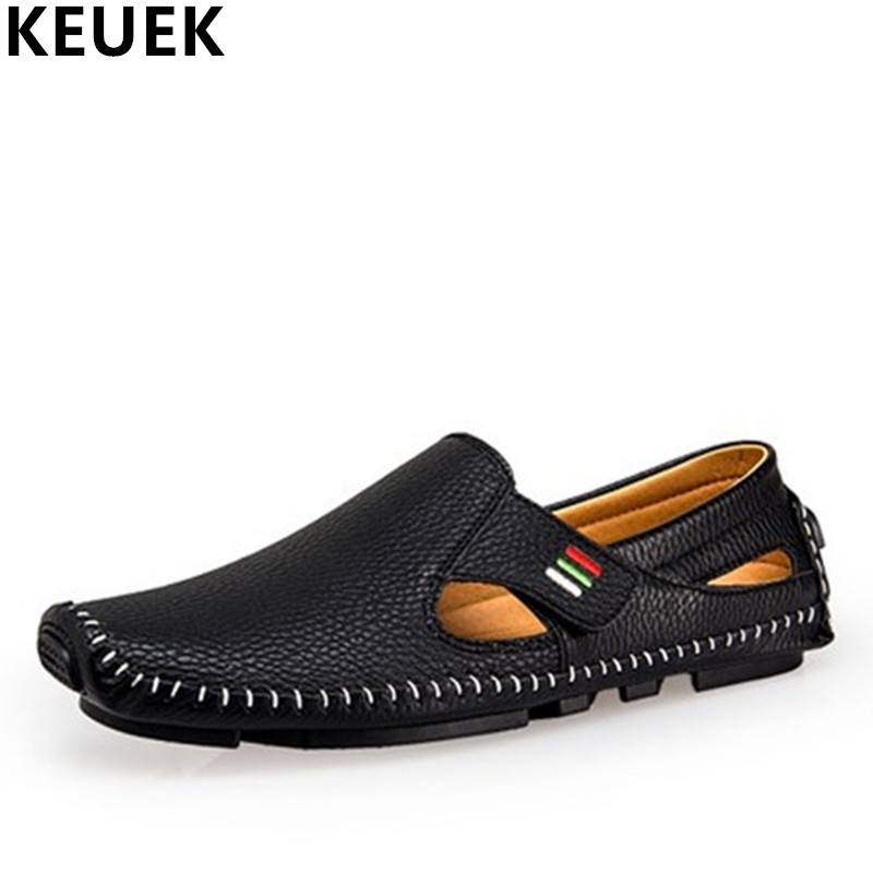 Spring Summer Breathable Men Boat shoes Light Slip-On Loafers Hard-Wearing Casual leather shoes Sewing by hand Driving shoes 3A spring high quality genuine leather dress shoes fashion men loafers slip on breathable driving shoes casual moccasins boat shoes