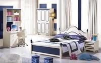6603 # современный красочный набор мебели для спальни кровать тумбочка гардероб 4 шт набор мебели