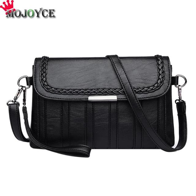 Women Solid Sling Crossbody Handbags PU Leather Ladies Small Shoulder Messenger Bags Female Pure Color Casual Soft PU Handbag
