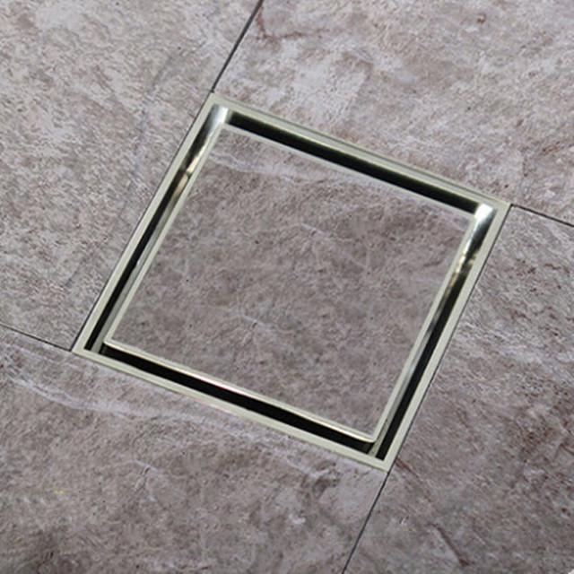 1pcs Free Shipping Tile Insert Square Floor Waste Grates Bathroom Shower Drain 110 X Or 150x 150mm 304 Stainless Steel