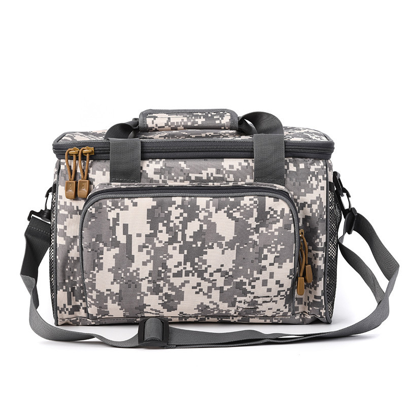 Image 4 - Large Waterproof Fishing Tackle Bag Case Bait Box Shoulder Strap Pocket Fishing Gear Canvas Bag three color optional-in Fishing Bags from Sports & Entertainment