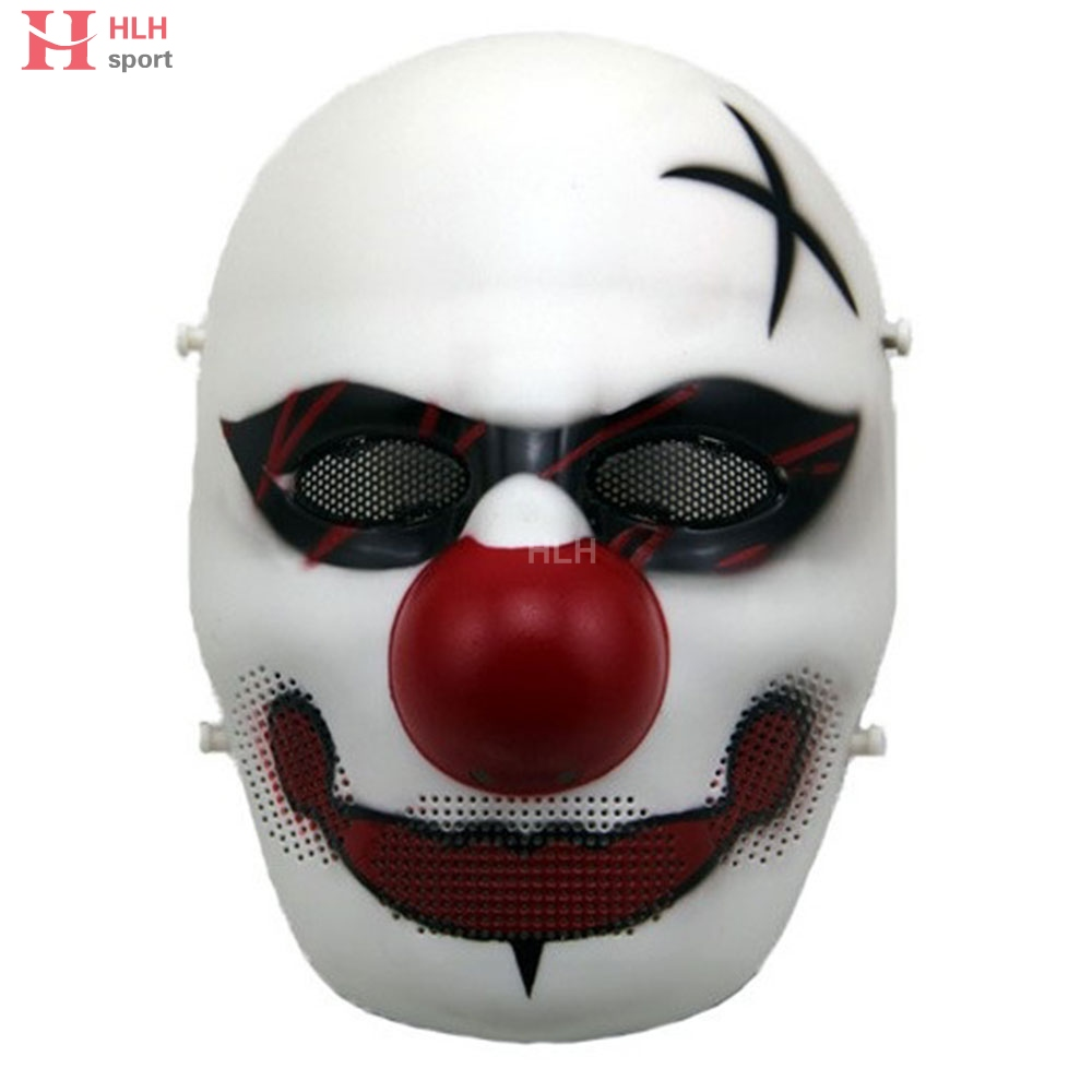 Clown Skull Mask Skull Tactical Mesh Masks Paintball Hunting Protection Mask Christmas Party Halloween Face Mask For Man Woman