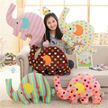 Big Size Drop Striped Elephant Pluh Toy Cute Elephant Pillow Doll Cushion Stuffed Plush Toys outlet