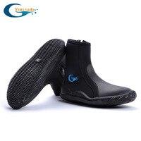 Di alta qualità 5 MM SCR Neoprene scarpe immersioni subacquee stivali Anti slittamento Pattino caldo di Tenere In caldo scarpe da Spiaggia calzino Invernali Pesca nuotare pinne