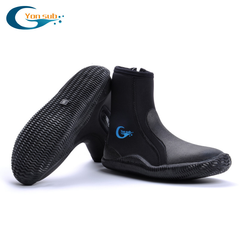 high quality 5MM SCR Neoprene shoes scuba diving boots Anti slip Skid Keep warm shoes Beach sock Fishing Winter swim Fins high quality scuba diving cap 4mm cute cartoon diving hap unisex thermal warm swimming cap