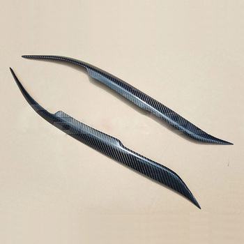 Carbon Fiber Headlight Cover Eyebrows Eyelid Trim Sticker For Mazda 6 2003-2013
