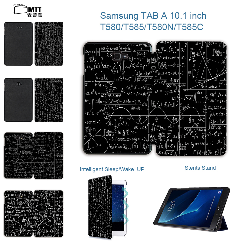 MTT Abstract science Case For Samsung Galaxy Tab A A6 10.1 2016 T580 T585 T580N T585N Tablet case PU Leather Smart Stand Cover luxury flip pu leather case cover for samsung galaxy tab a 10 1 2016 t580 t585 t580n t585n tablet stand cover with card slots