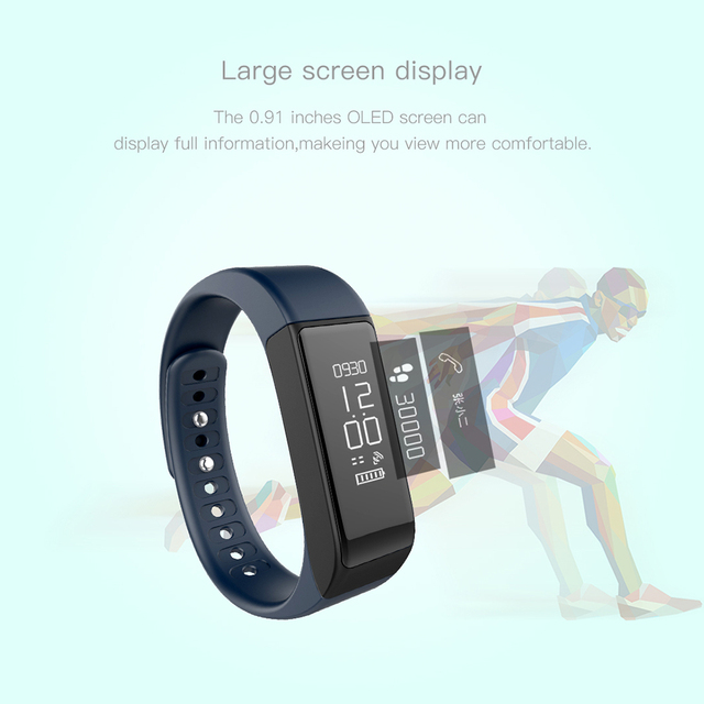 I5plus i5 Plus Bluetooth Smart Watch for iPhone 6/5S Android Samsung Galaxy S6 S5 S4 Smart Wristband Pedometer 0.91″ OLED