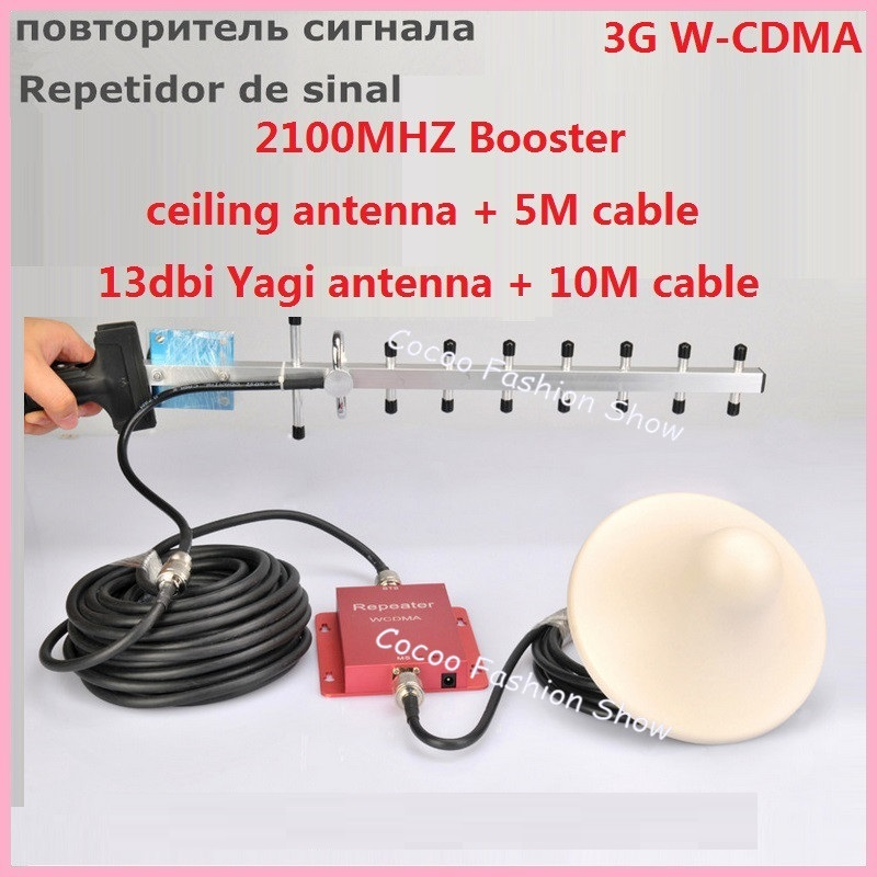 New Red 3G 2100MHz UMTS WCDMA Mobile Phone Cell Phone signal Booster Amplifier Repeater gain 60dbi Celular Signal BoosterNew Red 3G 2100MHz UMTS WCDMA Mobile Phone Cell Phone signal Booster Amplifier Repeater gain 60dbi Celular Signal Booster