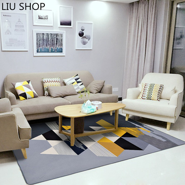 Liu simple moderno n rdico sala de estar alfombra for Crear una sala de estar rectangular