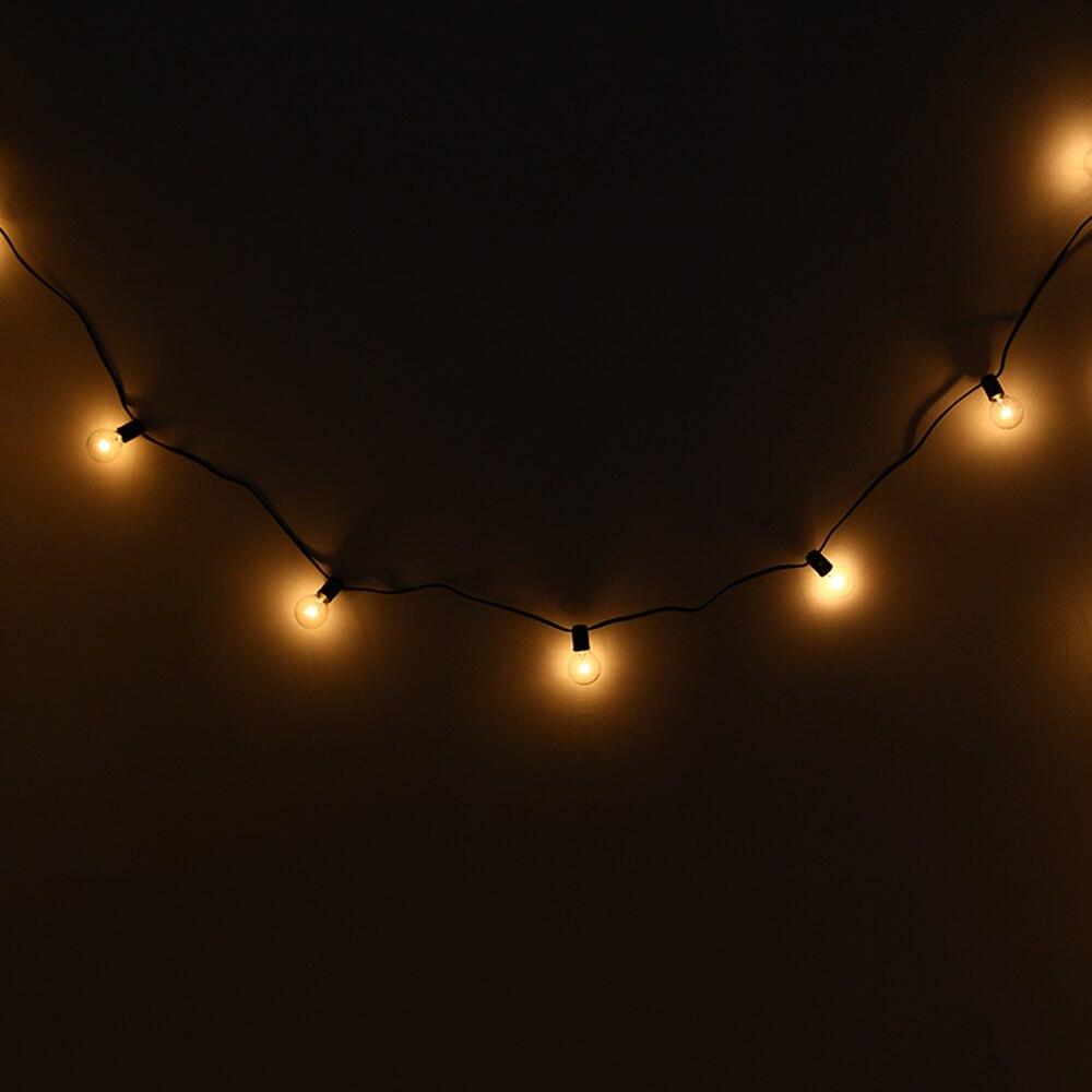 Hot Sale EU Plug E12 G40 String Lights With 25 Globe Bulbs Backyard Patio Lighting New A ...