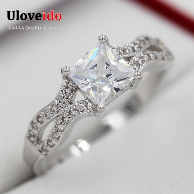 Uloveido Discount Marriage Jewelry Zircon Wedding Rings Female for Bijoux Women 2016 Arrival Crystal Jewelry Brand Anillo WX026