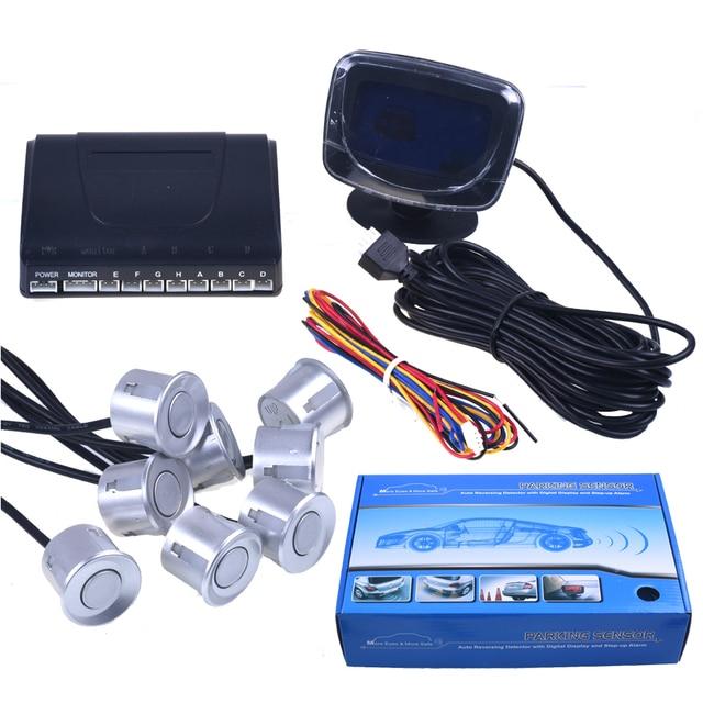 2017 LCD display car parking sensor 8 sensors parktronic electromagnetic simple car parking system