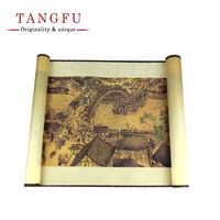 High Quality Silk Scroll Painting Chinese Traditional Famous Paint Art Simulation Wall Picture Foreign Custom Culture