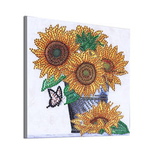 Top Vendendo Resina Pintura Diamante Bordado Needlecraft Estilo Sala de estar 25*25 cm(China)