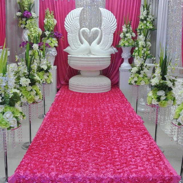 10 Meter 3d Rose Wedding Aisle Carpet Runner For Church Long Cheap