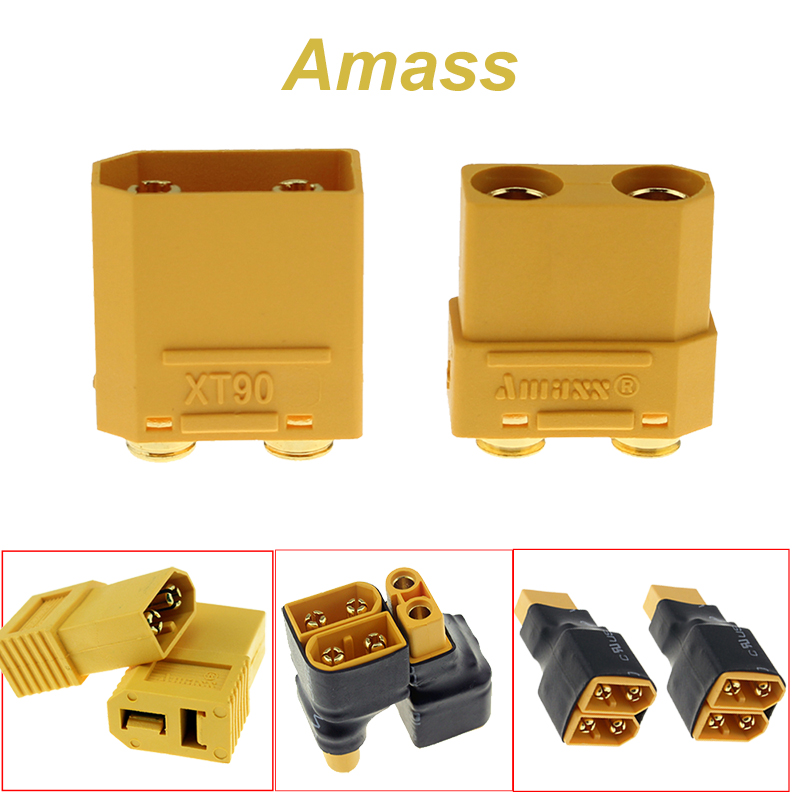 Amass XT90PB XT60 Series Adapter Converter Connector Male to Female XT60/XT90 Parallel FPV Drone Battery Connector parallel