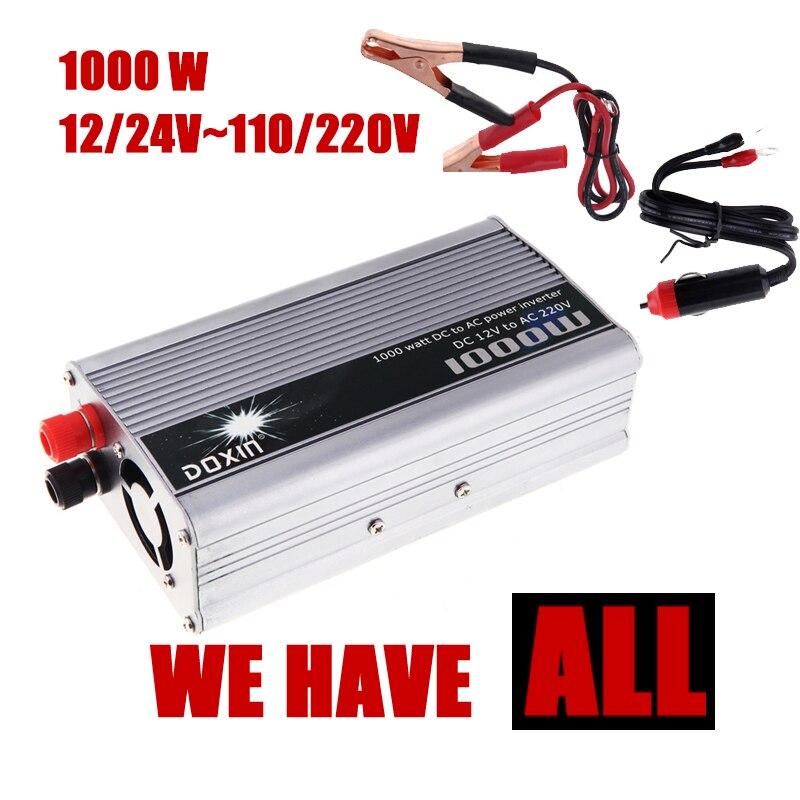 Auto Wechselrichter converter USB Ladegerät 1000 Watt DC 12/24 V AC 110/220 V Tragbare Spannungswandler modifizierte sinuswelle