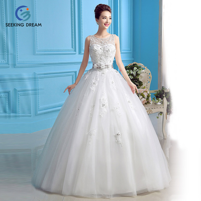 2016 Ivory White Ball Gown Dress One Shoulder Strapless Wedding ...