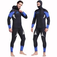 SBART Professional 5mm Neoprene Wetsuit For Spearfishing Swimming Underwater Diving Equipment Suit Set Men Snorkeling Wet Suit J