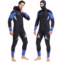 SBART Professional 5mm Neoprene Wetsuit For Spearfishing Swimming Underwater Diving Equipment Suit Set Men Snorkeling Wet Suit J