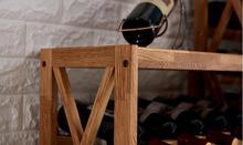 Modern Wooden Wine Rack Cabinet Display Shelf Bar Globe for Home Bar Furniture Oak Wood 25-40 Bottles Wine Rack Holders Storage