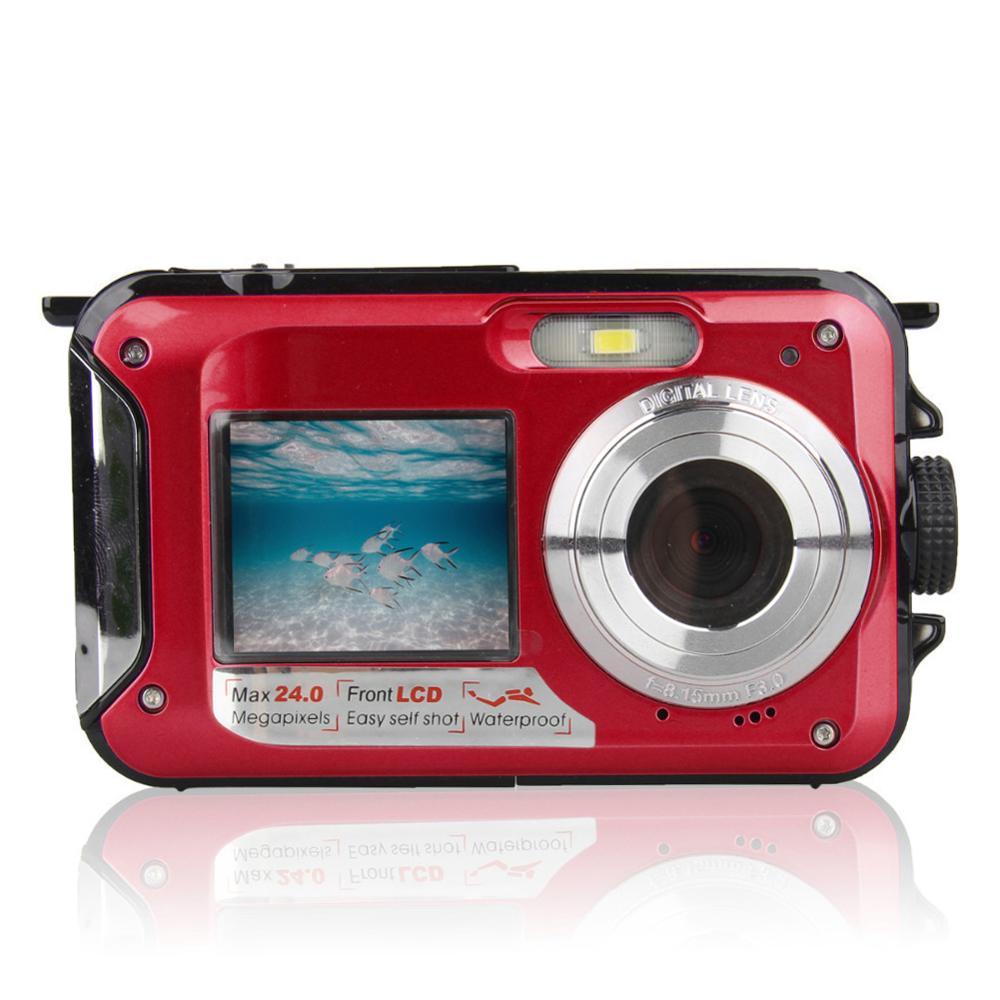 1080P Outdoor Dustproof DV Recording Double Screen Portable USB Lightweight Digital Camera Selfie Waterproof Underwater Full