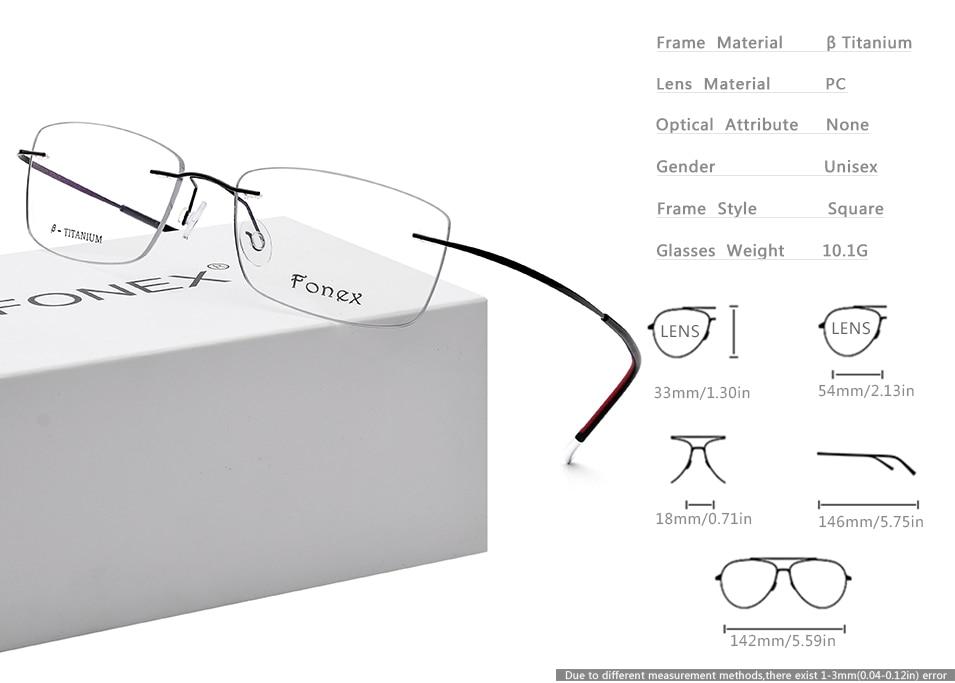894178e8e7 HTB1gr0jmMMPMeJjy1Xdq6ysrXXa4 Rimless B Pure Titanium Frameless  Prescription Glasses Men Women Ultralight Eyeglasses Myopia Optical Frame  Screwless