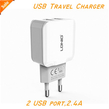 Ldnio Phone USB Charger 5V 2.4A Fast Charger EU Travel Charger USB Wall Mobile Phone Charger for iPhone Samsung iPad Tablet