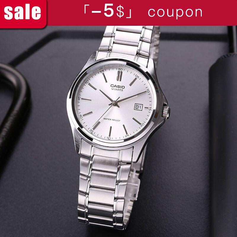 Casio reloj de acero de puntero Simple calendario de los hombres MTP ... 49b649c1667c