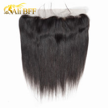 ALI BFF Brazilian Straight Human Hair Ear to Ear Lace Frontal Closure 13X4 Free Part Remy Hair Swiss Lace Hand Tied(China)