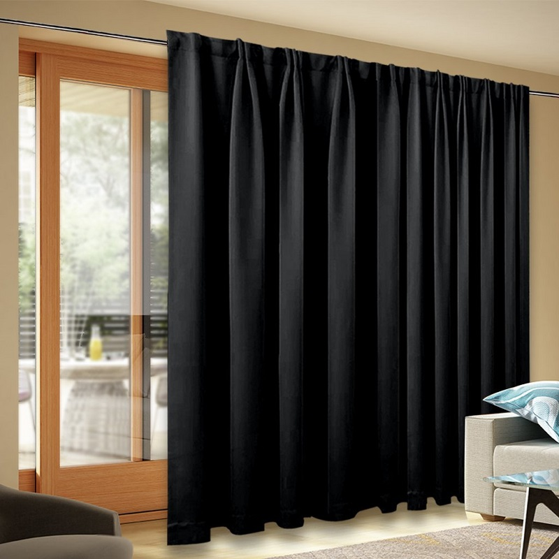 Wide Width Blackout Patio Curtain Sliding Door Insulated Curtains With Back Tab For Extra Windows In From Home Garden On Aliexpress