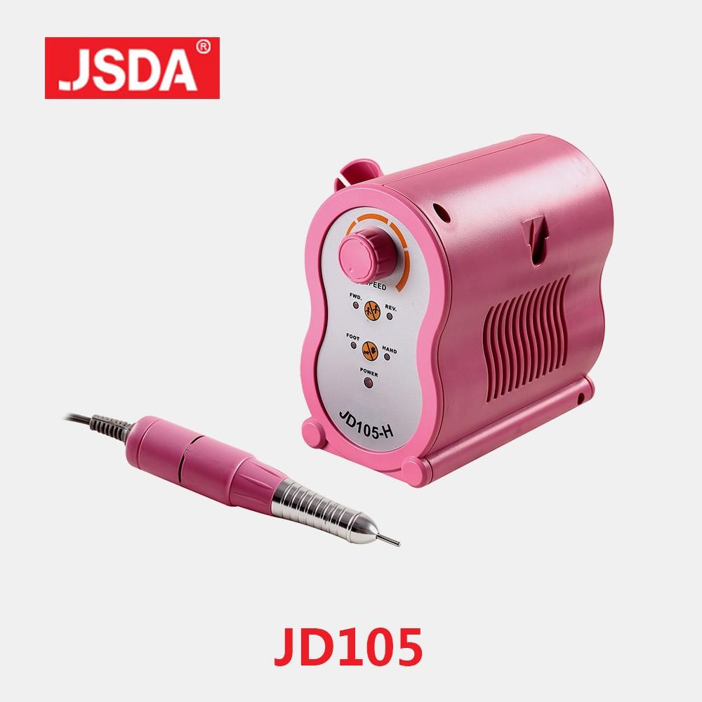 Direct Sell Jsda JD105H professional Nail Drills Machine Electric Manicure Pedicure Tools Bits Nails Art Equipment 65W 35000RPM