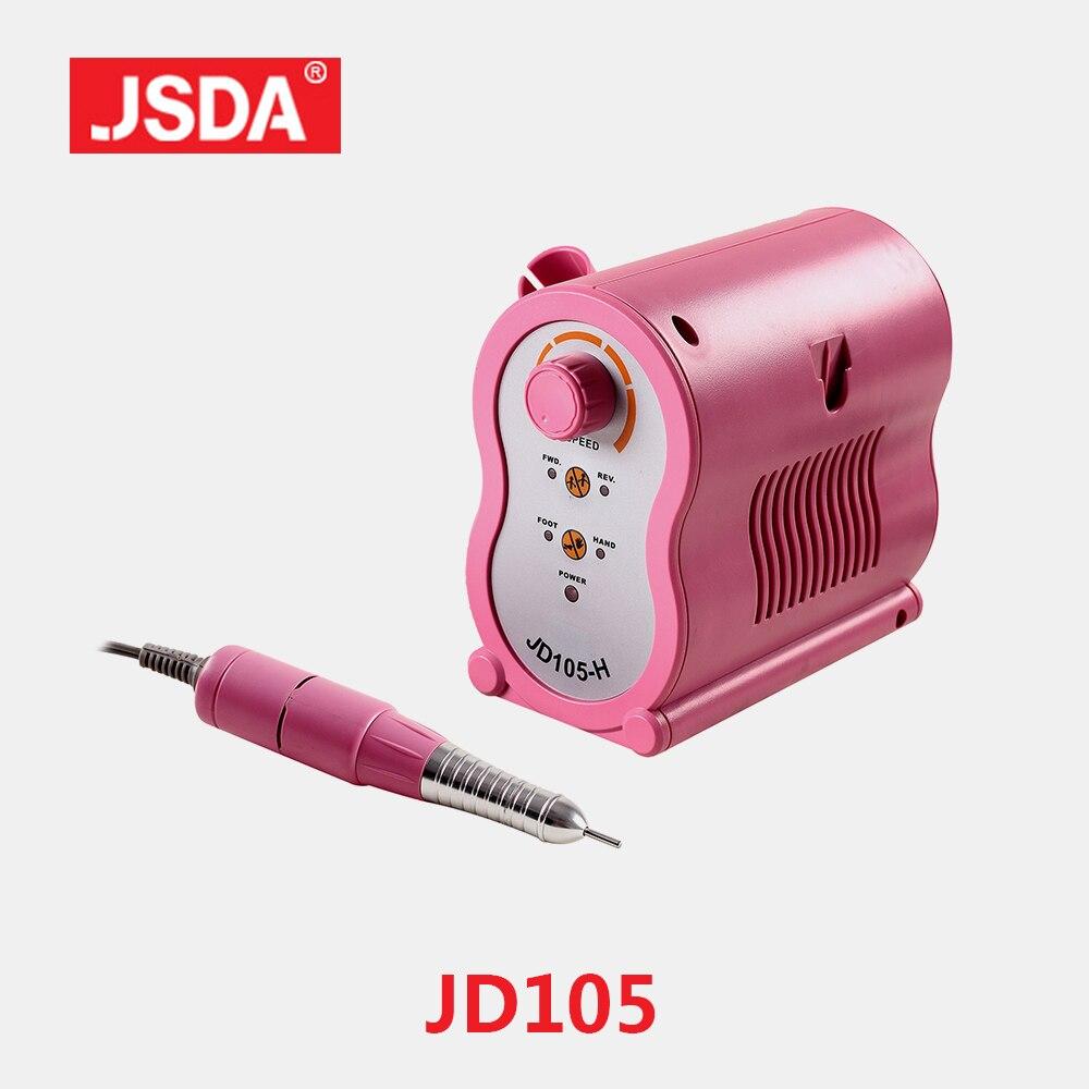 Vente directe Jsda JD105H professionnel ongles perceuses Machine électrique manucure pédicure outils Bits ongles Art équipement 65 W 35000 tr/min