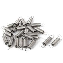 Gancho duplo de aço inoxidável, 24 peças, 0.5mm de diâmetro 6mm de diâmetro exterior 25mm de comprimento, mola de tensão pequena acessórios de ferragens