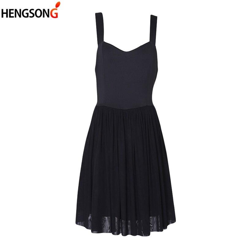 Summer Women Off Shoulder Dress Sleeveless Zip Short Dress Black Sling Dress Mesh stitching Casual  Dresses Vestidos