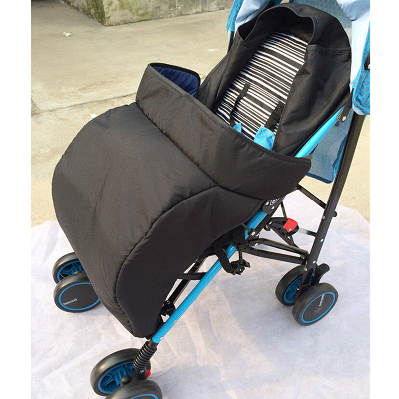Hot Solid Pram Cosy Stroller Cover Footmuff Fits Buggy Pushchair Stroller Socks Leg Warmer Portable Padded Convenient To Walking
