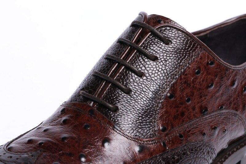 Negocio Redondo Vestido 1 Hombres Zapatos Lujo De Marca Pie Oxfords Boda Diseñador Para Relieve Dedo Alto Trabajo Del En Hombre Cuero 2 Grado ZqawYW71x