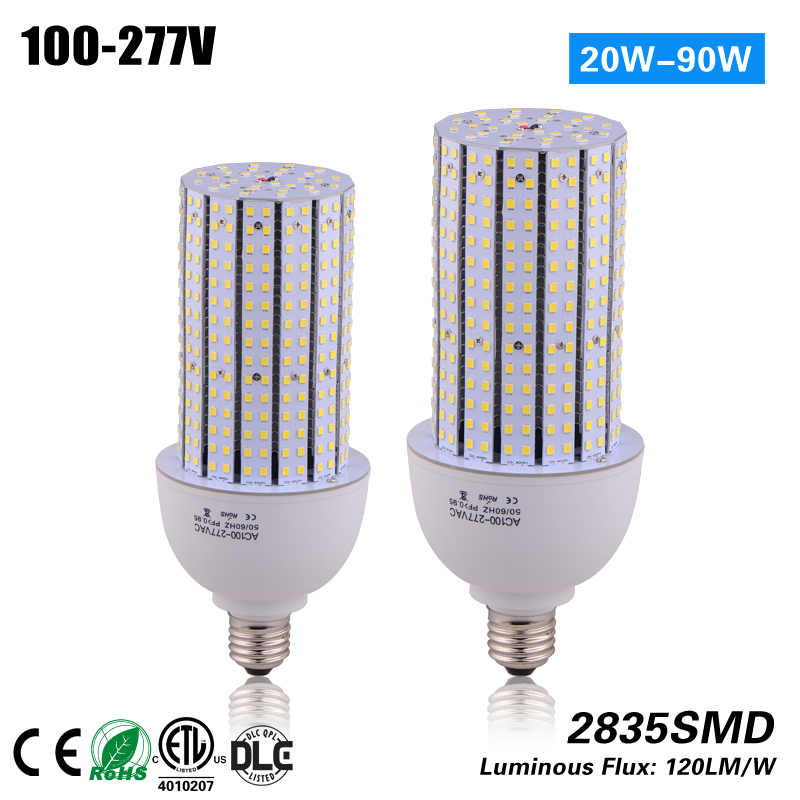 купить Free Shipping E39 E26 40w led Corn Light Bulb for 120w HPS MH street light replacement CE ROHS ETL дешево