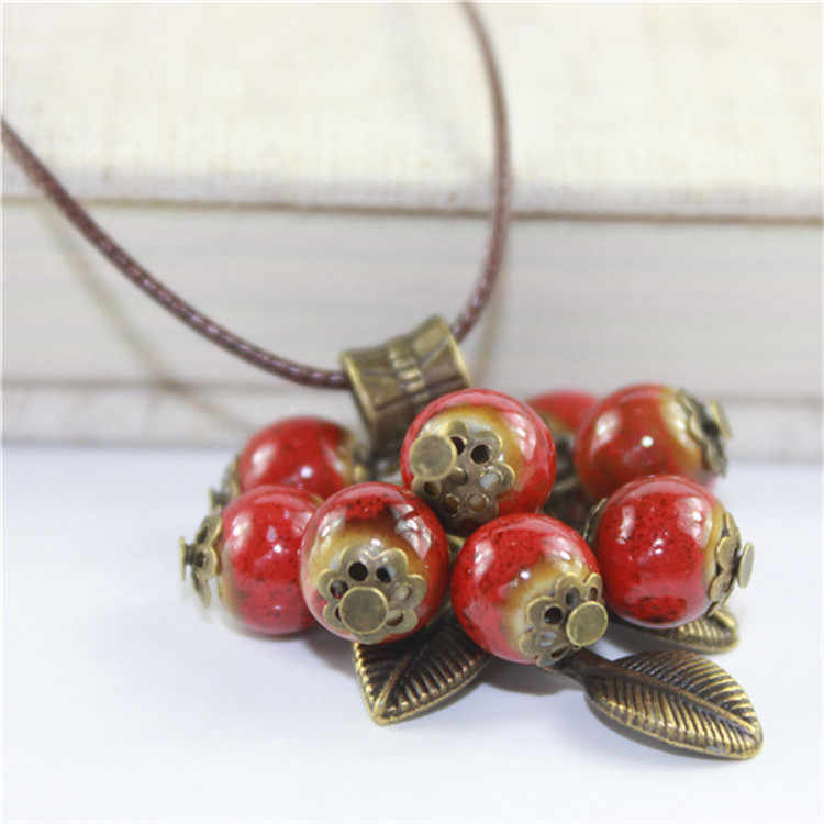 Miredo jewelry wholesale simple ceramic necklaces women's mothers gift necklace pendant free shipping #1083