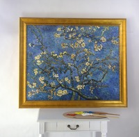 Framed oil paintings handmade reproduction Branches with Almond Blossm by Vincent Van Gogh