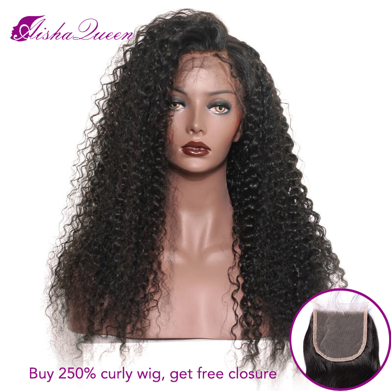 Curly Lace Frontal Wig 250 Density Pre plcuked Human Hair Lace Wig Brazilian Glueless Remy 8 26 Inch Long Wigs For Black Women-in Human Hair Lace Wigs from Hair Extensions & Wigs    1