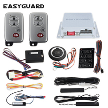 EASYGUARD PKE car alarm Rolling code remote engine start keyless go system touch password entry vibration alarm warning DC12V