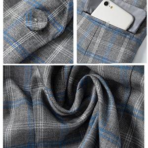 Image 3 - PEONFLY Classic Plaid Single Button Women Jacket Blazer Casual Notched Collar Slim Female Suits Coat Fashion Blazer Femme