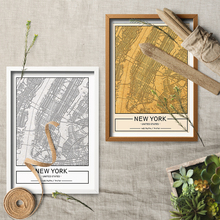 Custom City Map Print World Vintage Emboss Style Canvas Art MapPoster Painting Wall Home Decor For Living Room No Frame