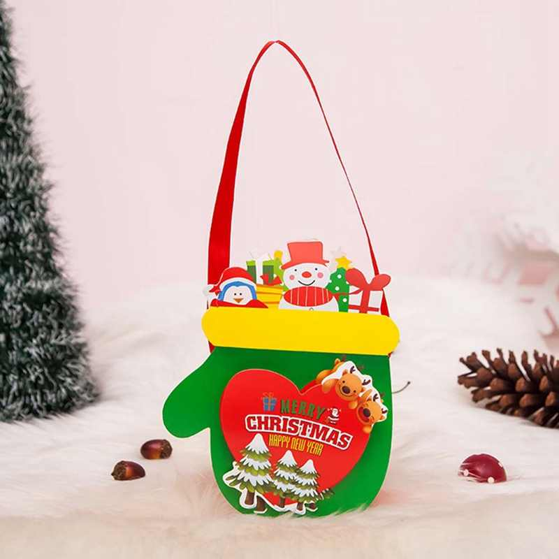Presente de natal Feliz Natal Saco de Doces Saco Lanche Pacote Infantil Doméstico Jardim Miúdo Home Decor de Natal Navidad